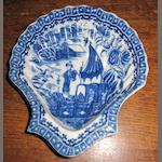 A late 18th/ early 19th century Liverpool shell dish