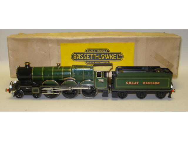 Bassett-Lowke Special Order H/5618 electric Great Western 4-6-0 'Wigmore Castle' locomotive and tender