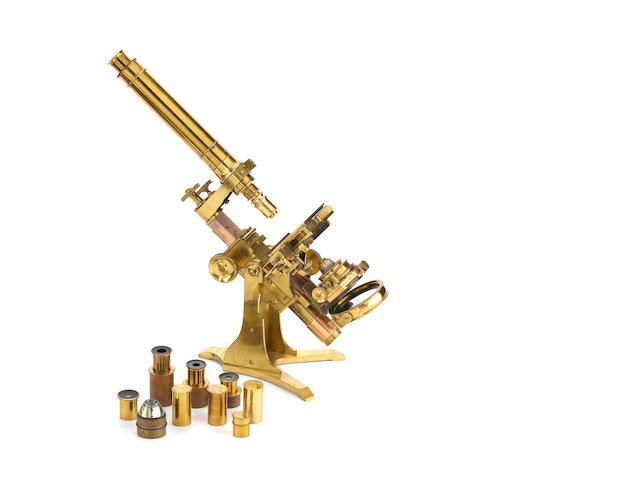 An Andrew Ross compound monocular microscope,  English, circa 1843,
