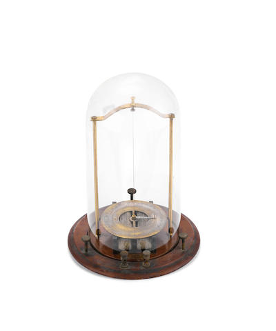 A Quadrant electrometer under dome, English, circa 1890,