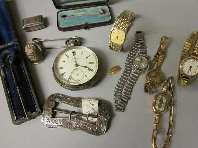 A lady's 9 carat gold Tissot bracelet watch,  (Qty)