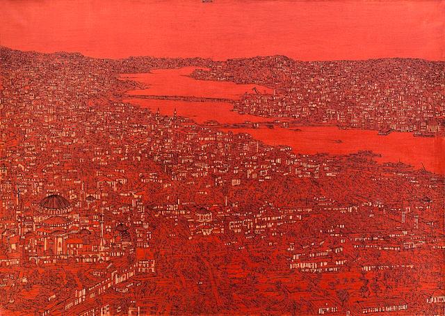 Devrim Erbil (born 1937) View of the Golden Horn,