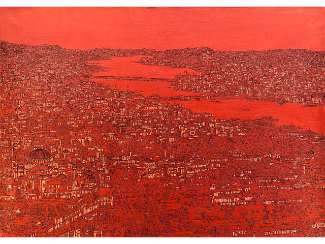 Devrim Erbil (born 1937) View of the Golden Horn,