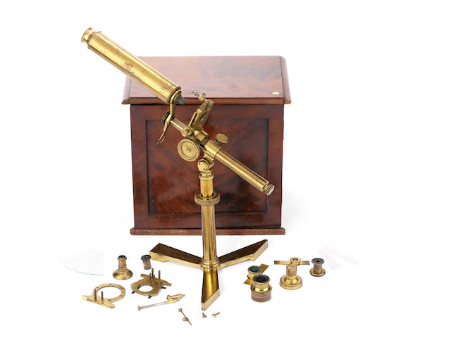 An early Andrew Pritchard compound monocular microscope,  English,  1835-1838,