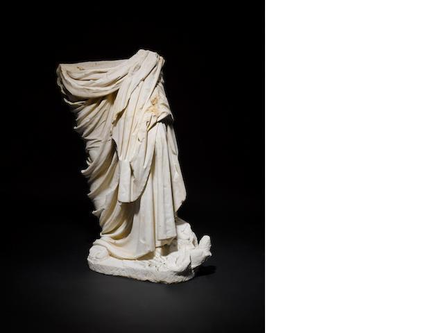 A Roman marble draped figure