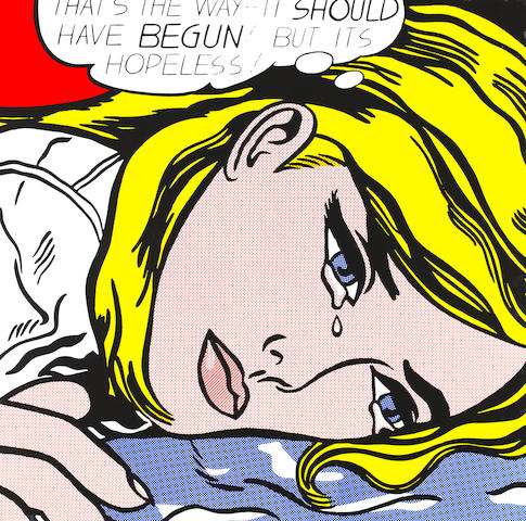 After Roy Lichtenstein (American, 1923-1997) 'Crying Girl'