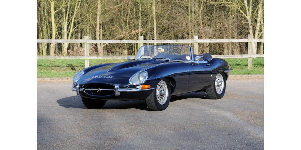 1962 Jaguar E-Type Series I 3.8-Litre Roadster  Chassis no. 850565 Engine no. RJ9059