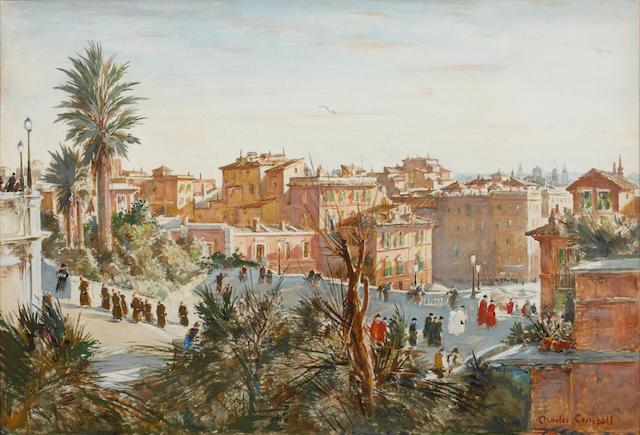 Charles Cundall R.A. (British, 1890-1971) 'Keats House, Rome'