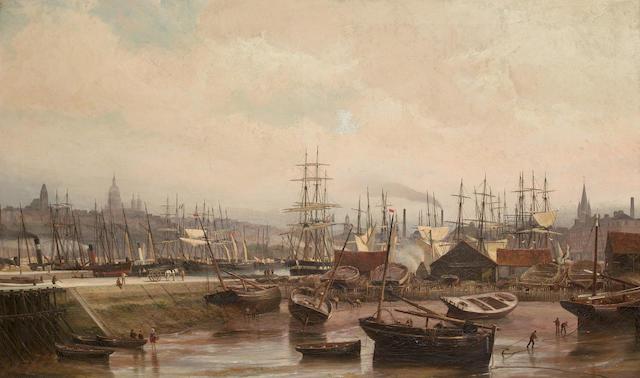 Cornelis Christiaan Dommersen (Dutch, 1842-1928) 'Bassin, Boulogne sur Mer'