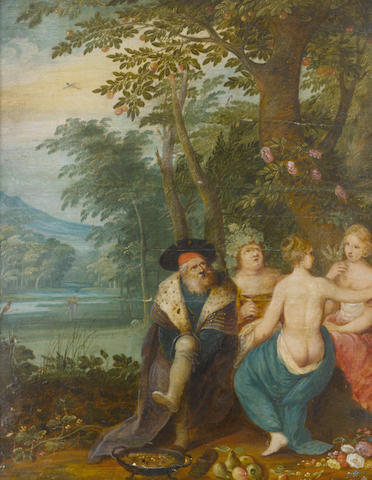 Circle of Jan Brueghel the Younger and Frans Francken, the four seasons