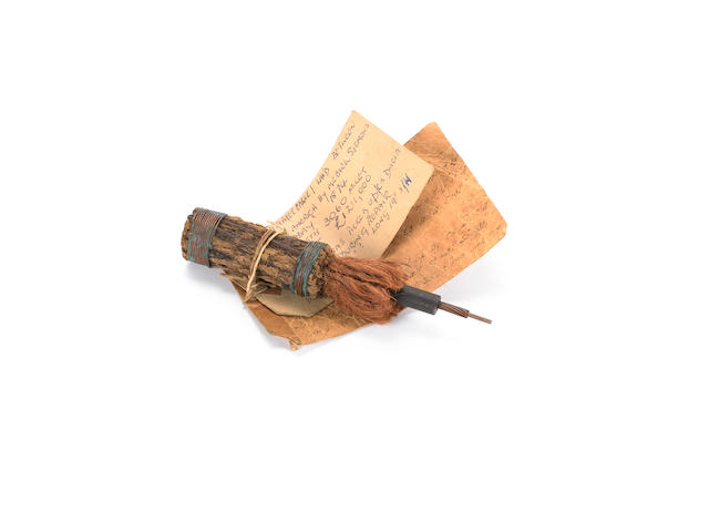 A good transatlantic telegraph cable sample - as laid in 1874 by the C.S. Faraday,