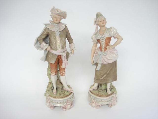 A pair of Royal Dux Bohemia figures Circa 1900