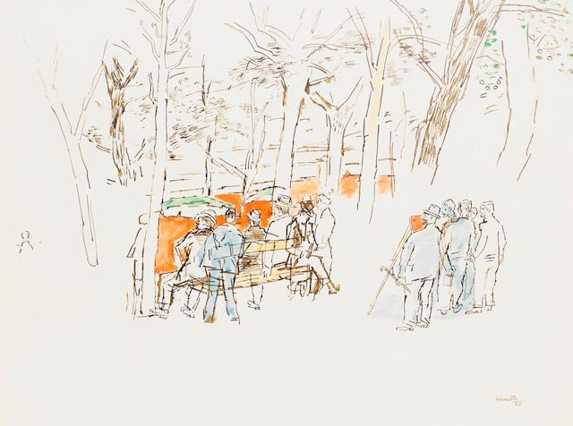 Fikret Mualla (1903-1967) Parisian Park,