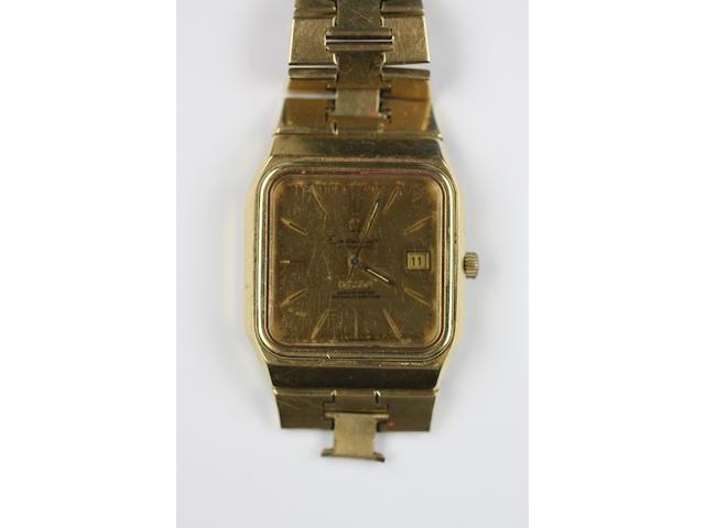 Omega: A gentleman's 18ct gold Constellation calendar wristwatch