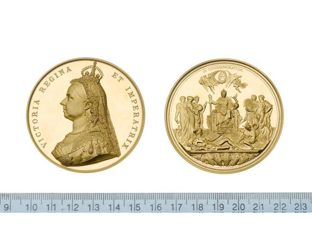 Golden Jubilee of Queen Victoria 1887, Gold medal, 58mm, Jubilee bust left, VICTORIA REGINA ET IMPERATRIX,