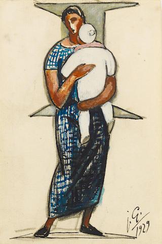 Julio Gonzalez Ramos, (1876-1942) Maternité