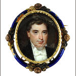 A 19th century oval portrait miniature of a gentleman
