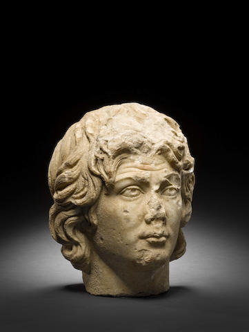 A Roman portrait head of Alexander the Great
