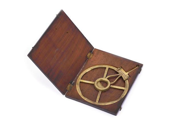 A Jeremiah & Walter Watkins brass circular protractor,  English,  1784-1798,