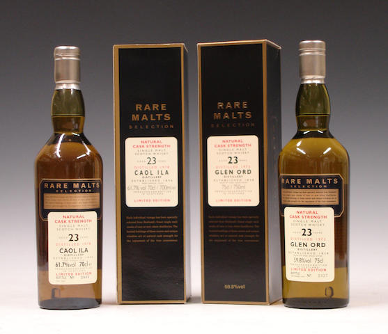 Caol Ila-23 year old-1978  Glen Ord-23 year old-1973