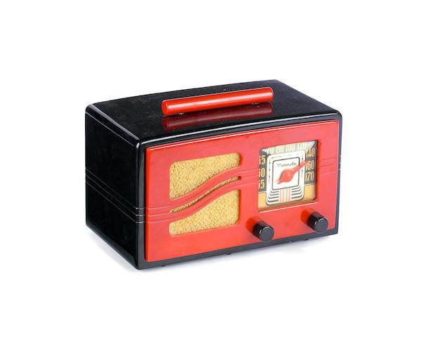 A Motorola S-grille catalin radio,  1941,