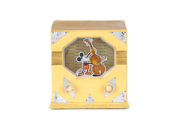 A rare Emerson Walt Disney 'Mickey Mouse' radio,  circa 1940,