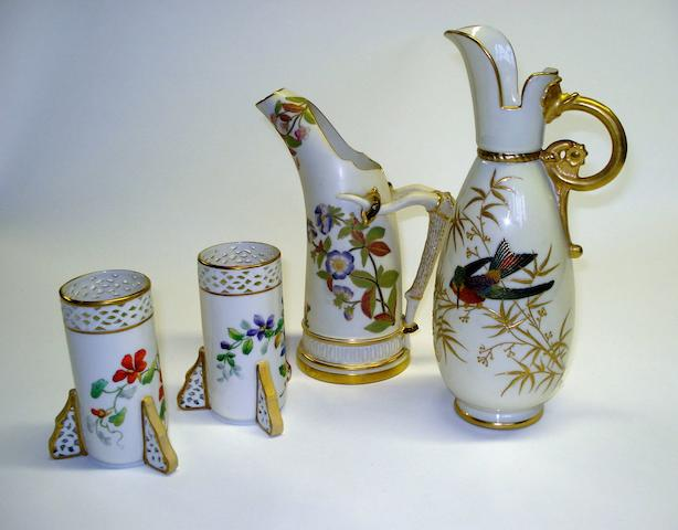 A collection of Royal Worcester and Grainger's Worcester items Late 19th Century