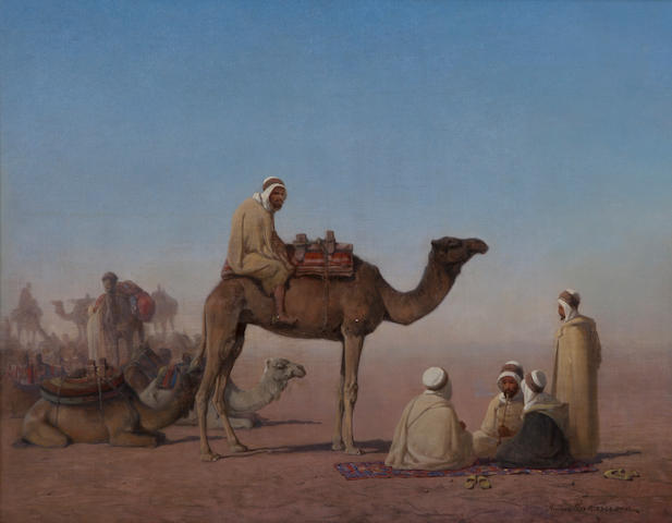 (n/a) Henrik August Ankarcrona (Swedish, 1831-1917) Bedouin resting