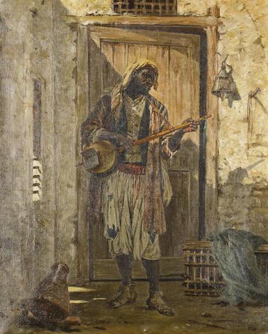 Cavalier Antonio Scognamiglio (Italian) Portrait of a musician