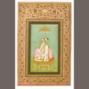 The Mughal Emperor Aurangzeb (reg. 1658-1707) enthroned Deccan, circa 1700