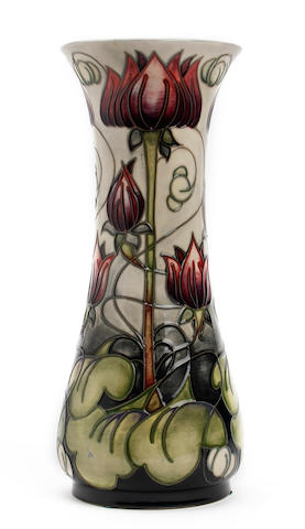A Moorcroft limited edition 'Appledorn' pattern vase, by Emma Bossoms Dated 2002