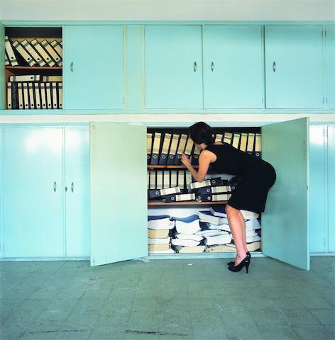 Clara Gebran, photograph, 120 cm x 120 - 4/5   2 AP  Untitled, 2009.  120 x 120cm (47 1/4 x 47 1/4in).