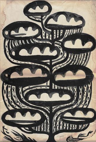 Bedri Rahmi Eyüboğlu (1911-1975) Cloudy,