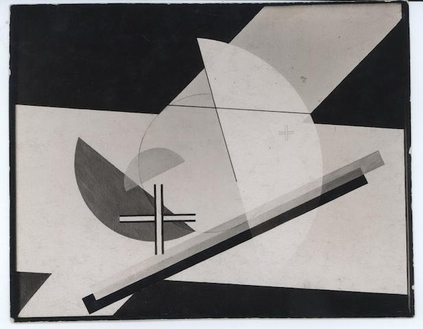 Lucia Moholy (British, 1894-1989) Collage And Oil Paint (By Lazlo Moholy-Nagy), 1922