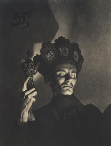 William Mortensen (American, 1897-1965) Tantric Sorcerer, c. 1935