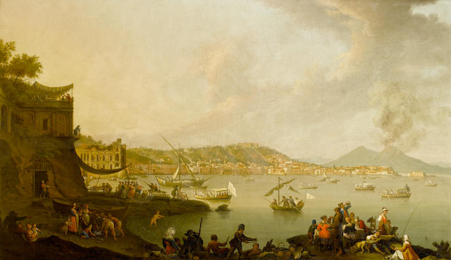 P.Fabris - Bay of Naples - oil on canvass