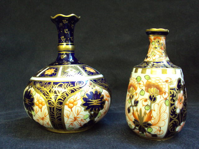 Two Royal Crown Derby vases