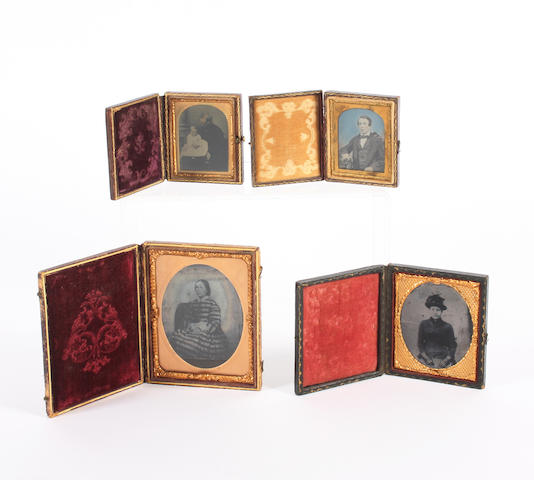 Mech MusFour Ambrotypes in morocco covered cases 4