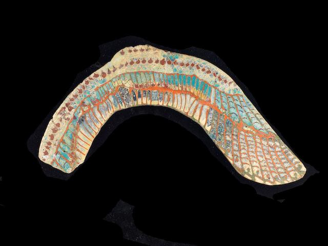 An Egyptian glass wing inlay