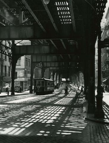 Todd Webb (American, 1905-2000) The Bowery Under the El, 1946 20.3 x 25.4cm (8 x 10in).