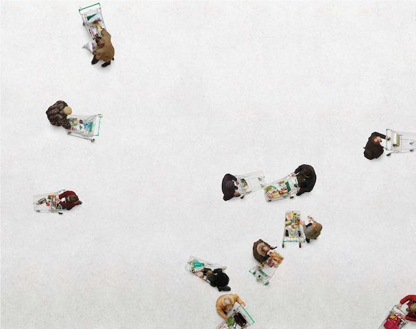 Birgit Graschopf (born Vienna, Austria 1978) Shopping Trolleys, 2006 95 x 123.5cm (37 3/8 x 48 5/8in).