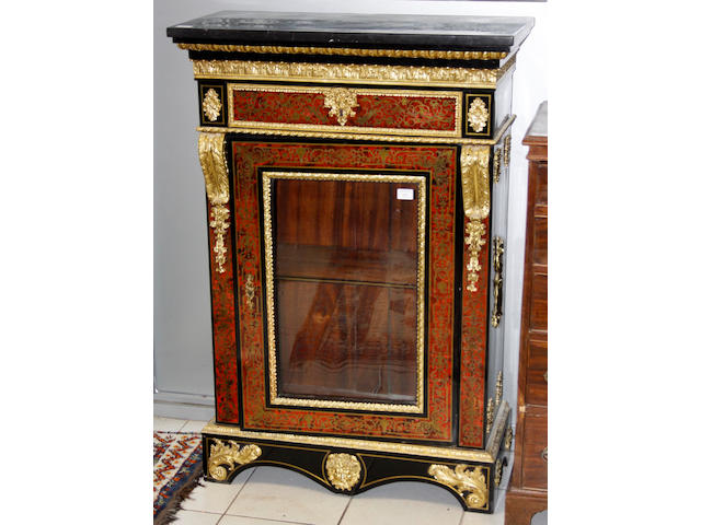 A French boulle and gilt-metal mounted display cabinet, late 19th century