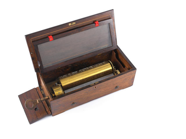 An early two-per-turn musical box, by Ducommun Girod, circa 1844,