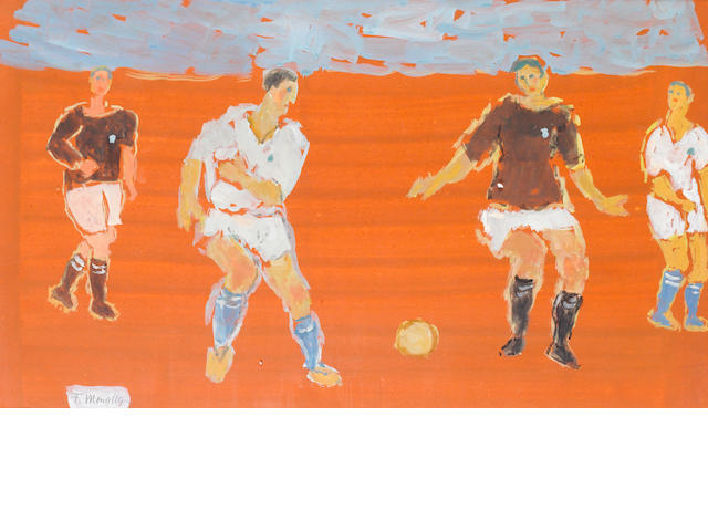 Fikret Mualla (1903-1967) Figures Playing Football,