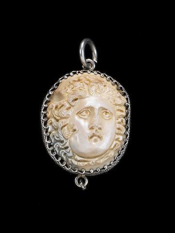 A Roman agate cameo of Medusa