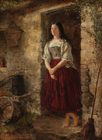 Colin Hunter, ARA RI RSW RE (British, 1841-1904) The Cottage Door, a Reverie