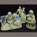 Two Lladro figure groups