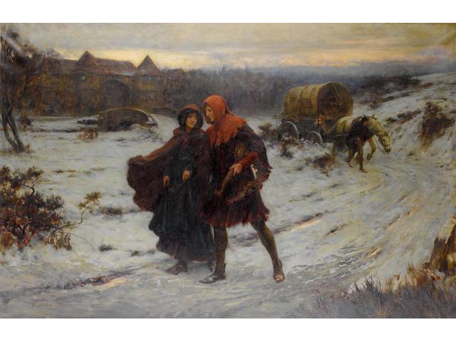 George Sheridan Knowles, RI, RBA, ROI, RCA (British, 1863-1921) Strolling Players