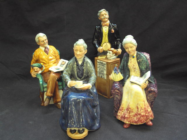 A small collection of Royal Doulton figures