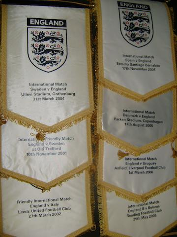 2001 - 2006 England match pennants